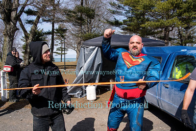 2017 Olcott Polar Bear Swim For Sight, March 5, 2017 in Olcott, NY.