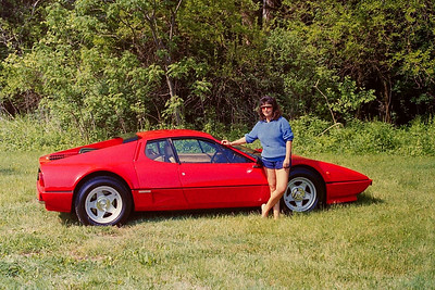 Friends Ferrari 512 Berlinetta Boxer and girlfriend