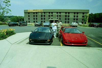 George Evans with his Black Diablo and my Father and his Red Diablo