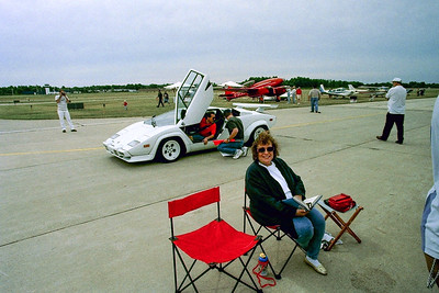 Mom at the car show