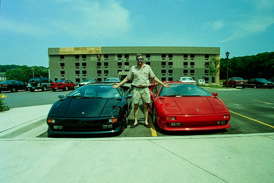 George Evans with his Black Diablo and our Red Diablo