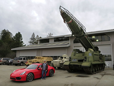 February 16, 2014 - Me and my 981 Cayman S at a Tank Museum