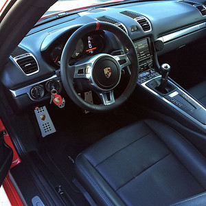 August 22, 2015 - Interior of my Cayman S 981 cleaned up for Car Week
