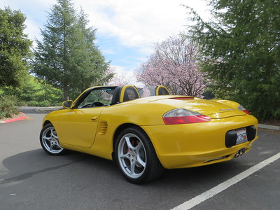 March 2, 2013 - Rear shot of my 2003 Boxster 986 S