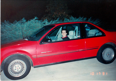 October 17, 1991 - Me and my Chevrolet Beretta GT in High School