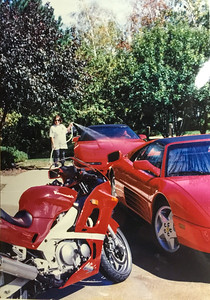 Kawasaki Ninja and Ferrari 348