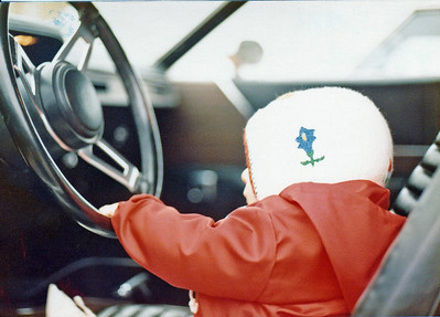 Me Almost 1yo in Plymouth Roadrunner