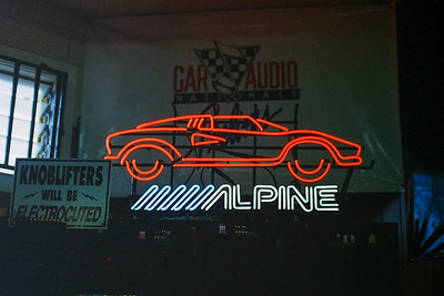 August 2, 1989 - Alpine Neon sign in a store  in Torrance, CA