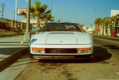 August 2, 1989 - Outside of Beverly Hills Sports Cars