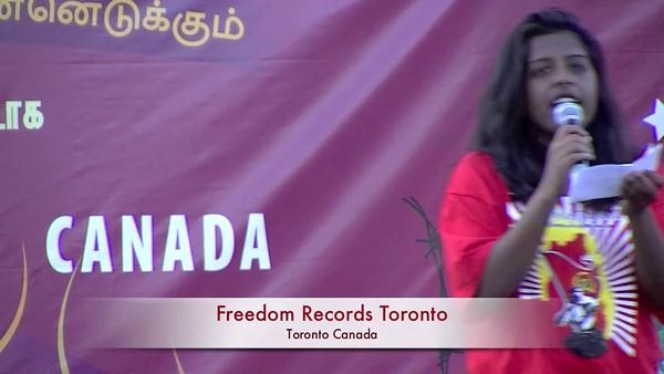 உயிர்த்தெழுவோம் நிகழ்வில்        Freedom Records   - ( செந்தூரன் அழகையா)  குழுவினரின் இசைத்தட்டுப் பாடல்