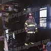 Lt. Rick Husted at a fire on Clizbe Ave