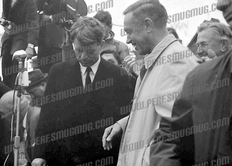 Robert F. Kennedy, October, 1964 US Senate campaign. With Congressman Sam Stratton.
