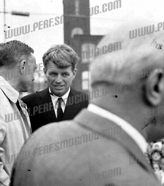 Robert F. Kennedy, October, 1964 US Senate campaign. With Congressman Sam Stratton