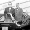 The gentleman on the right is Nelson O Kennedy<br /> <br /> Charlie Dana (left), trombonist and AHS music/band teacher, and on the right, Nelson ______, who was my piano teacher in high school, and the organist at the Amsterdam masonic lodge