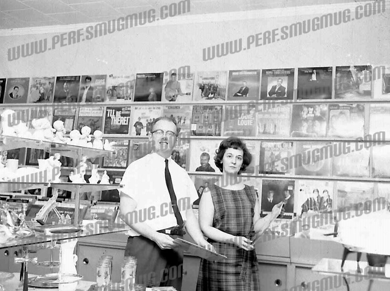 In this photo Don and Toni Brown who owned Browns Gift Shop on East Main St.