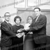 Bob Going wrote about this photo on Sep 14th;<br /> <br /> Left is my dad, Francis Going, accepting a check for the annual Heart Fund drive in Amsterdam, early 60's