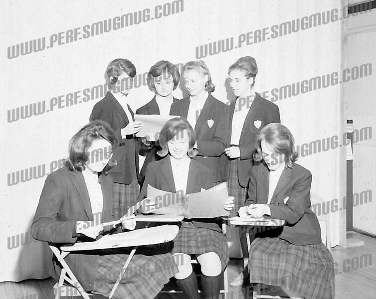 these are girls from the SMI class of '64 back row l-r monica czelusniak, judith kubas, mary danyla and ? front row: pat dygon, mary ellen dargush and lynn hewitt.