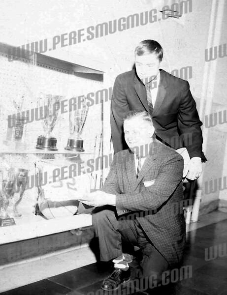 Coach Greco and Tim Kolodziej probably about 1964