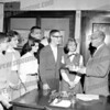 Paul Barkevich wrote about this photo on Sep 29th;<br /> <br /> the young man with the sweater and glasses is Richard Betz, on his left is Gail Buchner