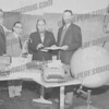 Looks like Bob Conover far right, of Seely Conover office supply store. 1960 on board seems right.