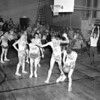 SMI Gaels playing varsity basketball, New York State Armory, late 1950's
