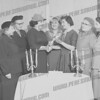 Some ladies from Congregation Sons of Israel. 3rd from left is the Rabbi's wife, Eleanor Bloom. 3rd from right accepting is Eleanor Breier, who was the wife of former Mayor Marcus Breier.<br /> <br />  anita olender levine (bankbiz21@optonline.net) wrote about this photo on Mar 3rd<br /> My Aunt Mame Cramer is in between cousin Eleanor and the Rebbetzin. The others look familiar...my Mom and Dad would know...