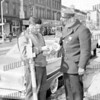 Mario Tambasco, Meter Superintendent, later Bus Transportation Superintendent with then Police Officer Francis Cichy, later Detective Cichy.