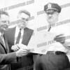 Mayor Marcus Breier (l), Police Court Judge Malcolm Tomlinson. Taken 1964-67.
