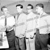 New members with Chief Polambo, l-r Ed Krzynowek, Dom Metallo, and John Carusone