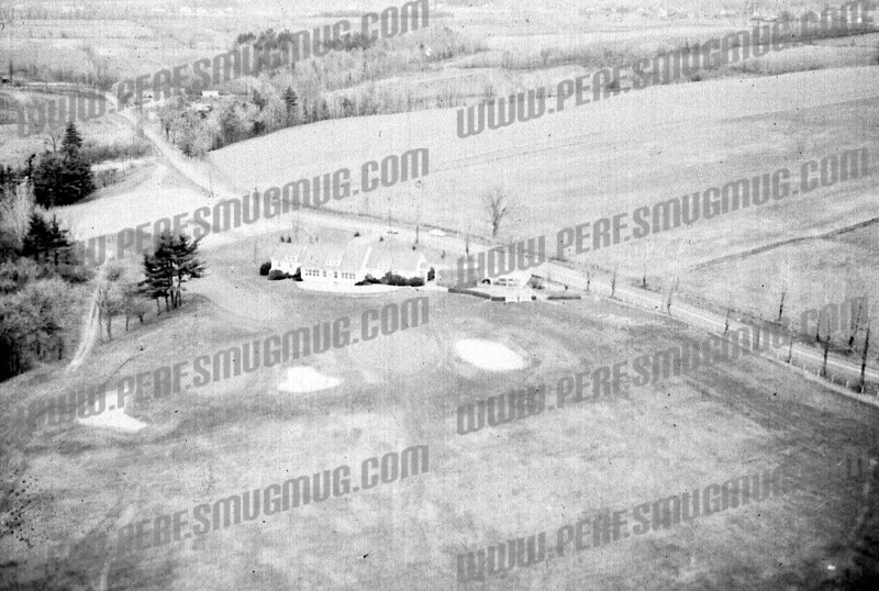 """Amsterdam Muni, 1950's. It was all """"Golf Course Road"""" then, as the road simply looped around the course. When the connector road hooked up with Route 30 in early 60's, the gentle curve became a T intersection and the part behind the club house was re-named """"Upper Van Dyke"""""""