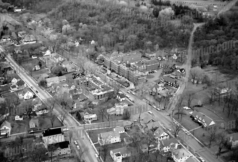 Guy Park and Division Streets at Steadwell Ave (diagonal). Old St. Mary's Hospital in center.
