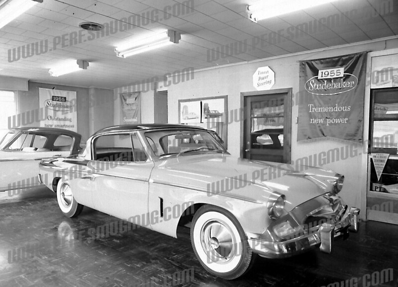 Bob Going wrote about this photo on Oct 13th;<br /> <br /> 1955 Studebaker, first car with modern lines. (Actually started in 54. We had one.) Great car.