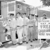 Ed Tolson is 6th fireman in line<br /> Firefighters line up for free X-ray at Station #5 Henrietta and Division St. l-r Mrs. A. Douglas Greig, FF's Joe Jaworski, Frank Dalesandro, Dominick Pupa, Tony Lavigna, Phil Corcuera, Ed Tolson and Asst. Chief Ed Schwartz