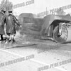 AFD members put out a roller fire on Rte 5s Oct 13, 1960