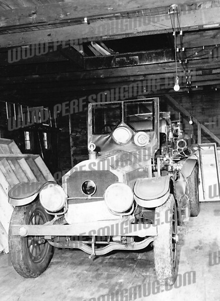 Possibly an old engine 3. I think it is inside the old garage behind station # 3