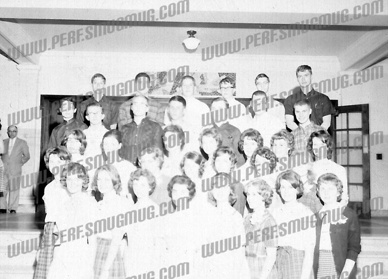Tim Kolodziej AHS basketball star,far right in top row,<br /> <br />  Chet Syzdek (csandcz@charter.net) wrote about this photo on Mar 20th<br /> These are very smart people. The National Honor Society of AHS Class of 1964. I'll take a shot at this but I can't make out several faces or remember their names.<br /> Front row L-R; Pat Jordan, ? , Christine Rajter (sp?), Marlene Rizzo, Linda Ciulik, Sandra ?, Kathy Flesh, ?.<br /> Second row L-R: ? , ? , ? , Anita Synarski, Sandy Greens, Denise Tolbert<br /> Third row L-R: Carolyn Ferris, Marilyn Marshall (maybe), Rae Rogers (maybe), ? , ? , Rita Konieczny, Diane Safran<br /> Fourth row L-R: Fred Nelson (dark shirt), Louie Pasquarelli, Dave Conant, Larry Zawisza, ? , Paul Ochal, John Sawicki<br /> Top row L-R: Steve Bengis, Larry Olney, Mike Krochina, Bob, Kendell (sp?), Ed Schwartz, Tim Kolodziej.<br /> Several of these people are alumni of St. Stanislaus School. Pat, Linda, Rita, Larry and Paul.