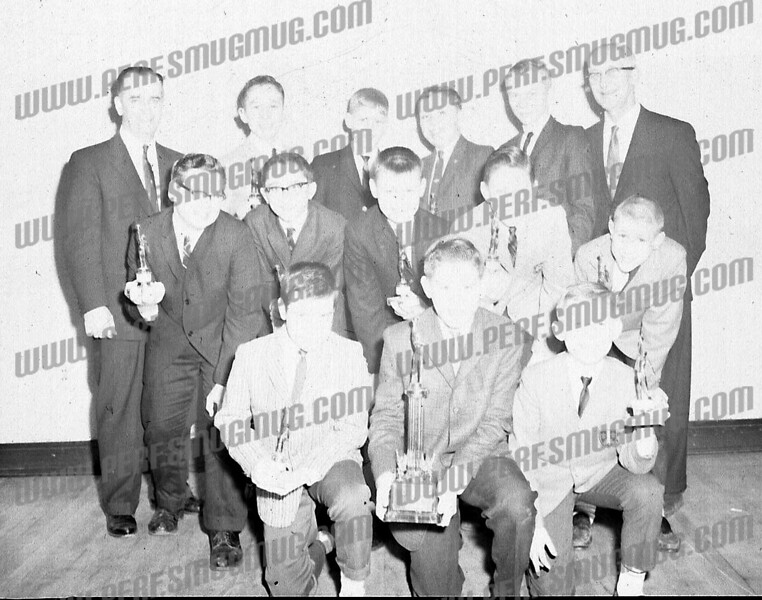 wyz wrote about this photo on Oct 31st<br /> <br /> Old friend of mine, Andy Bromirski , top row left.<br /> 4 th over John Nabozney and Richard Bien next.<br /> Looks like Joe Kielbasa??( 2nd row 1st up) holding trophy