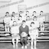 SMI jv's, 1964-65. Front row l-r Mike Skaradek, Coach Tony Roman, Bill Whelly.<br /> 2nd row Mike Dufresne, Bill Dado, Hank Kelly, Jim Morrell?<br /> Third row Chris Cortese, Dave Montenaro, Tim List, ?, Joe Ukeritis, Tom eckert