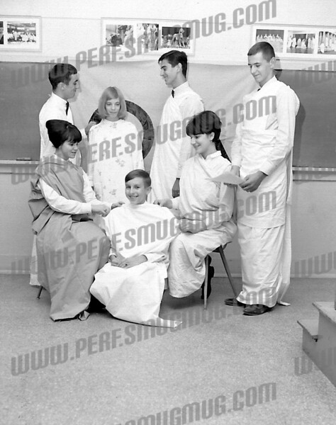 SMI Latin Club c. 1965 .Standing Andy Spanburgh (l) and Bill Coluni (center). Probably the infamous Pledge Night of which no word may yet be spoken.