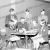 Standing from left, Gene Lees, Tim Maroney, Ernie Scialaba (?), seated middle, Fr. Anselment