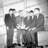 left to right - Ron Kaszuba, Tony Torani, ?, (possibly Coach Tony Greco), ?, & Eric Johnson in '67 or '68. The students in the pic all graduated in '68.