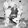 SMI, 1962-63. Standing Jack Kolodziej, Bill Bresonis, Rob Golden.<br /> front ?, Coach Dutch Howlan, Danny Krawczeski