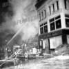 Corner of E. Main St. and Church St. Sandu Market Fire Jan. 29,1949