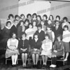 This appears to be from the 9th grade of Theodore Roosevelt Jr. High School 1963-64. Probably the Honor Society or something very much like it.<br /> Identifiable: <br /> Front row: Debby Krzysko second from right. <br /> Middle row: Susan Malicki, extreme right. Males in second row: Jeff Moran, Donald Raila, & Jim Lichorat. Susan Burza at extreme right.<br /> Upper row: Diane Gordan, fifth from left.