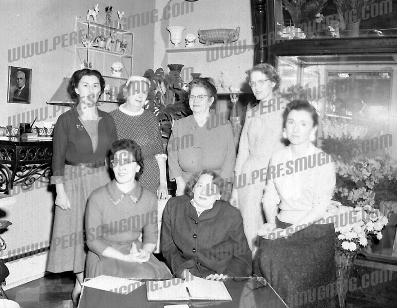 Standing second from left Florence Burns, 6th grade teacher at Guy Park Avenue School. Later became principal.