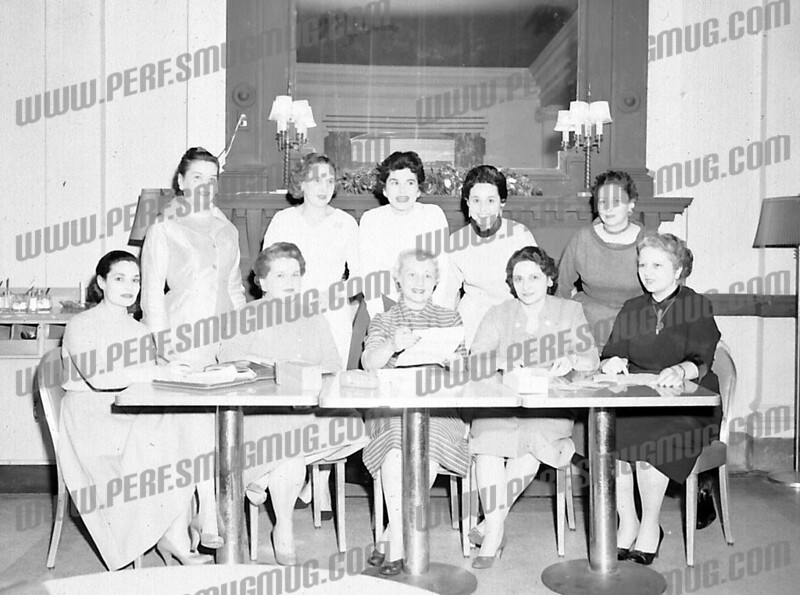 far right top Emily Mancini, seated far right mary jane Cervera, seated second from right Mary Martuscello, center center could be Eva Boggie