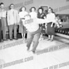Looks like John Cetnar bowling, can't tell the rest. Could be st John's Lanes?