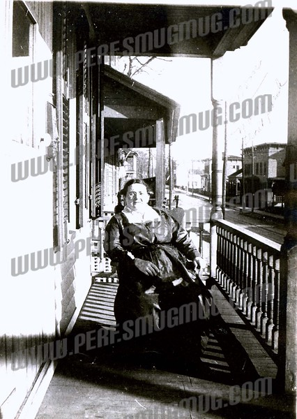 Anna Ross front porch 313 West Main St. looking East<br /> Amsterdam, NY