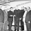 center Father Joseph Keyrousze, Father Edward Glavin, Father John Manion, all of St. Mary's, c. 1961.