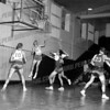 On left (no. 10) is Tom Urbelis. On right with glasses is Rick Cetnar. Both were outstanding basketball players for Amsterdam High. Urbelis from '61 thru '63 and Cetnar from 60 - 62.